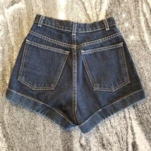 American Apparel Shorts - American Apparel High Wasted Denim Short-Short!
